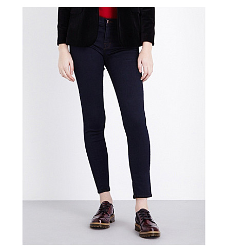 J BRAND 811 skinny mid-rise jeans (Ink