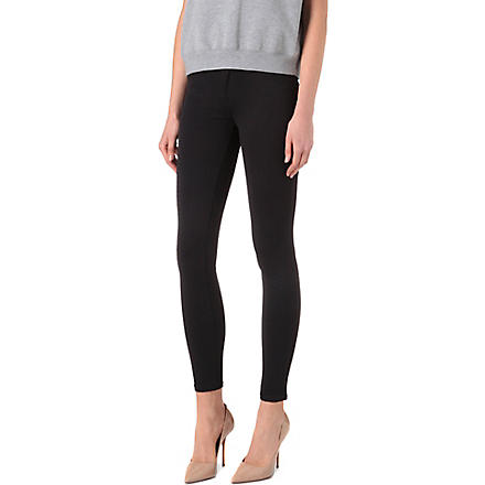 J BRAND 815 Python neoprene leggings (Black
