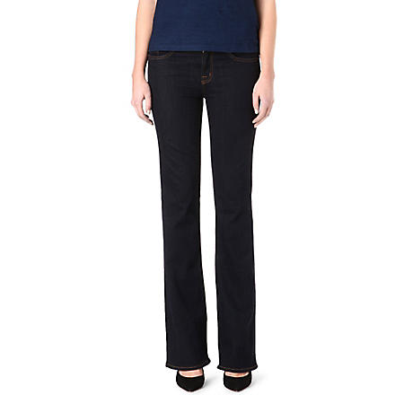 J BRAND 818 slim bootcut mid-rise jeans (Starless