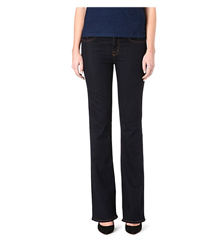 J BRAND 818 slim bootcut mid-rise jeans (Starless