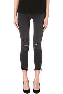 J BRAND 822 cropped skinny mid-rise jeans