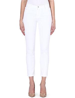 J BRAND Rail cropped skinny mid-rise jeans