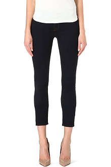 J BRAND Rail cropped skinny mid-rise jeans