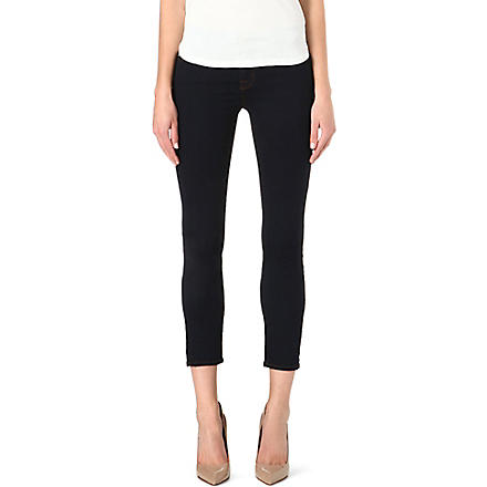 J BRAND Rail cropped skinny mid-rise jeans (Ink