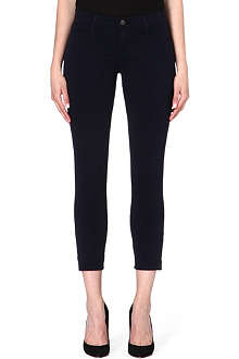 J BRAND Mid-rise marine ankle zip jeans