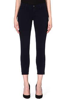 J BRAND Mid-rise marine ankle zip jeans