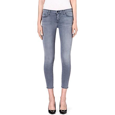 J BRAND 835 cropped skinny mid-rise jeans (Strobe