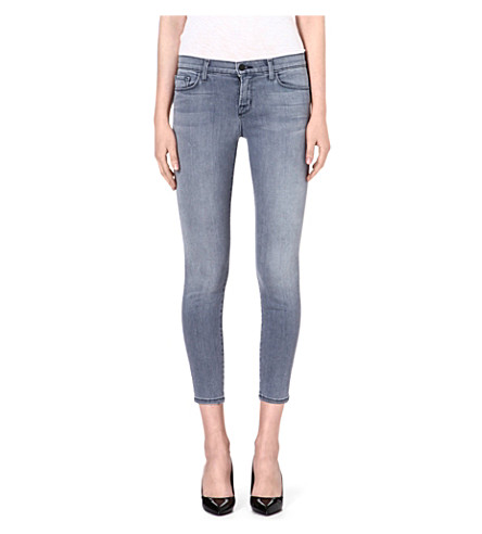 J BRAND 835 cropped skinny mid-rise jeans (Strobe