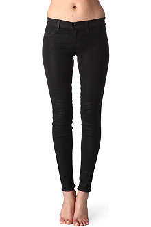 J BRAND 915 super-skinny low-rise coated leggings