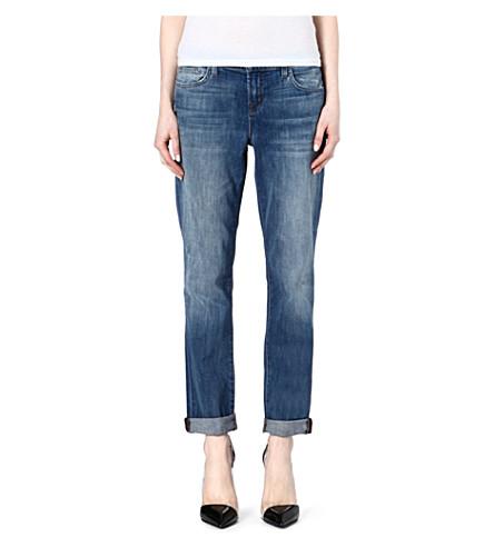 J BRAND Beau fitted boyfriend mid-rise jeans (Cherish