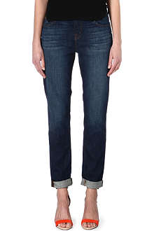 J BRAND Beau fitted boyfriend mid-rise jeans