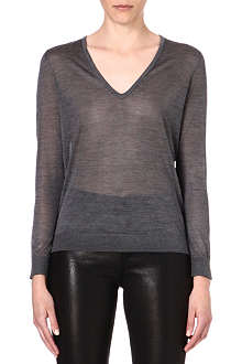 J BRAND FASHION Julie v-neck silk-blend top