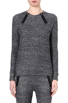 J BRAND FASHION Laura zip-detailed sweatshirt