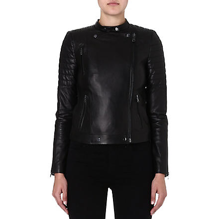 J BRAND FASHION Crista leather jacket (Black