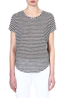 J BRAND FASHION Jersey stripes t-shirt
