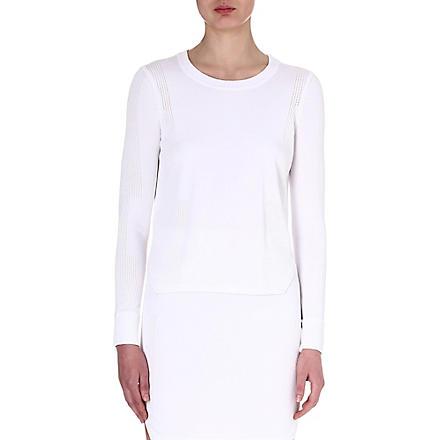 J BRAND FASHION Ellen knitted jumper (White