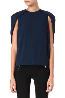 J BRAND FASHION Cowley caped-shoulder top