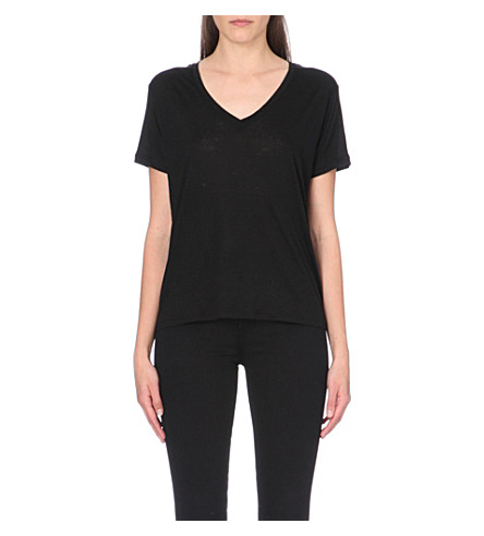 J BRAND FASHION Janis v-neck t-shirt (Black
