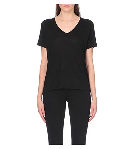 J BRAND FASHION Janis v-neck t-shirt (Black
