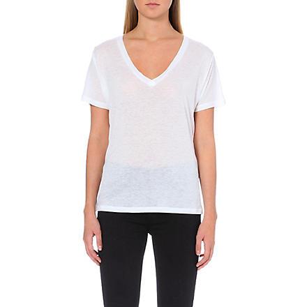 J BRAND FASHION Janis v-neck t-shirt (White