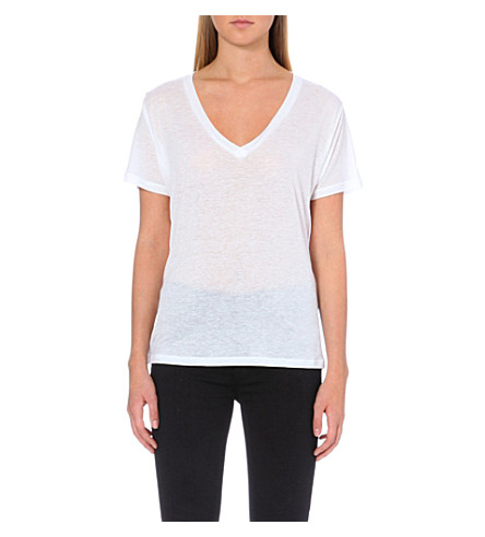J BRAND FASHION Janis v-neck t-shirt (White