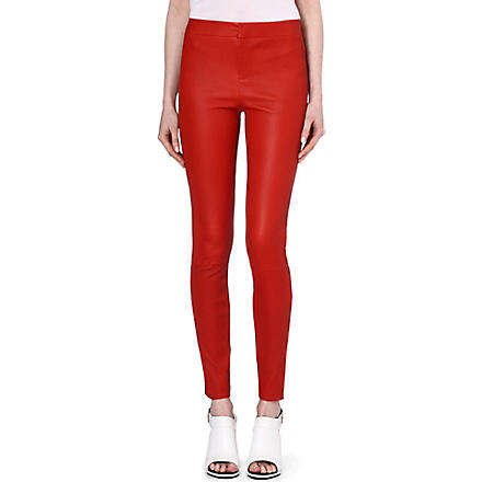 J BRAND FASHION Bartlett leather trousers (Masai