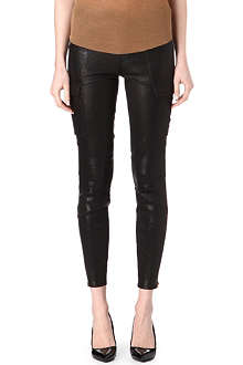 J BRAND L1229 Houlihan skinny leather cargo trousers