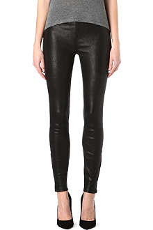 J BRAND L23110 Maria leather skinny high-rise trousers