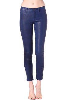 J BRAND L8001 super-skinny mid-rise leather jeans
