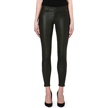 J BRAND L8001 leather super-skinny trousers (Mantis