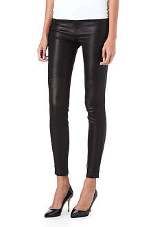 J BRAND L8001 super-skinny mid-rise perforated leather jeans