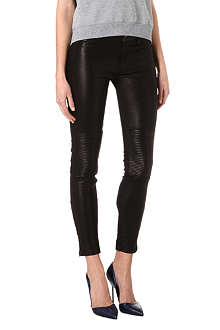 J BRAND L8001 super-skinny mid-rise leather leggings