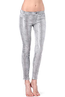 J BRAND Python print super-skinny mid-rise leather leggings