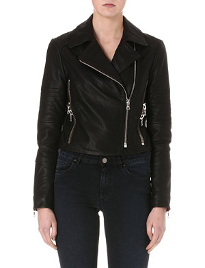 J BRAND FASHION Aiah leather biker jacket