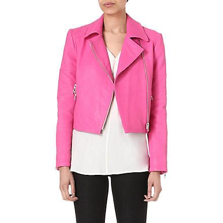 J BRAND FASHION Aiah leather biker jacket (Hibiscus