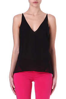 J BRAND FASHION Lucy semi-sheer camisole