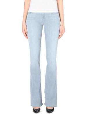 J BRAND 1197 Martini skinny-flare mid-rise stretch-denim jeans