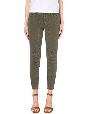 J BRAND Ginger cropped skinny mid-rise jeans