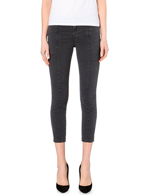 J BRAND Cropped stretch-cotton cargo trousers