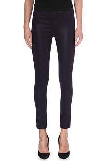 J BRAND Maria coated super-skinny jeans