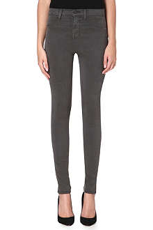 J BRAND Skinny high-rise suedette trousers