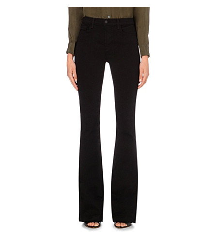 J BRAND Maria Seriously Black flared high-rise jeans (Seriously+black