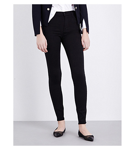 J BRAND Maria skinny high-rise jeans (Seriously+black