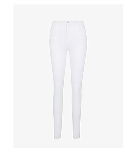 J BRAND Maria skinny high-rise jeans (Blanc
