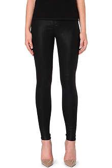 J BRAND 23110 Maria coated super skinny jeans