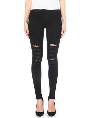 J BRAND 23110 Maria distressed skinny high-rise jeans
