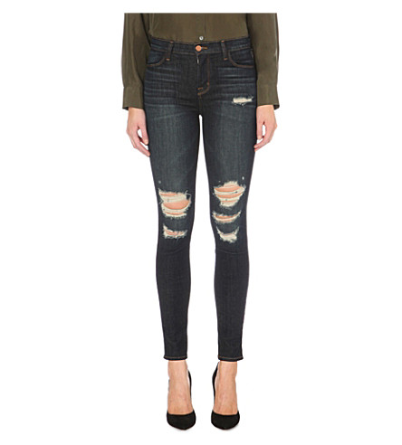 J BRAND Maria skinny high-rise jeans (Frequency
