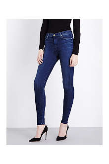 J BRAND Maria skinny high-waist stretch-denim jeans
