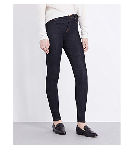 J BRAND Maria skinny high-rise jeans (After+dark