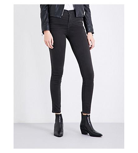 J BRAND Maria skinny high-rise jeans (Dark+charcoal